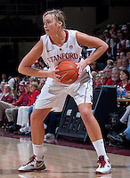 STANFORD, CA - January 22, 2011: Joslyn Tinkle of the Stanford women's basketball team during their game against USC at Maples Pavilion. Stanford beat USC 95-51.