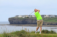 Simon Bryan (Delgany) on the 12th tee during Round 3 of The South of Ireland in Lahinch Golf Club on Monday 28th July 2014.<br /> Picture:  Thos Caffrey / www.golffile.ie