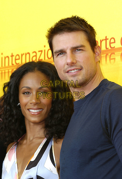 "JADA PINKETT SMITH & TOM CRUISE.Photocall for ""Collateral"".61st Venice Film Festival, Italy, .September 3rd 2004..portrait headshot.Ref: KP.www.capitalpictures.com.sales@capitalpictures.com.©Capital Pictures."