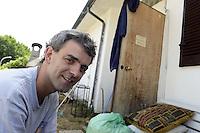 Roma,  Giugno 2012.Lander Fernandez , attivista del movimento giovanile basco, rifugiato in italia da più di un anno arrestato il 13 Giugno e ora agli arresti domiciliari.La Spagna lo accusa di presunta appartenenza a ETA..