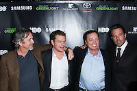 HOLLYWOOD, LOS ANGELES, CA, USA - NOVEMBER 07: Peter Farrelly, Matt Damon, Len Amato, Ben Affleck arrives at HBO's 'Project Greenlight' Season 4 Winner Announcement held at Boulevard3 on November 7, 2014 in Hollywood, Los Angeles, California, United States. (Photo by David Acosta/Celebrity Monitor)