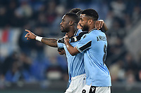 Bastos of  Lazio celebrates after scoring a goal with Anderson<br /> Roma 14-1-2020 Stadio Olimpico <br /> Football Coppa Italia 2019/2020 <br /> SS Lazio - Cremonese <br /> Foto Antonietta Baldassarre / Insidefoto
