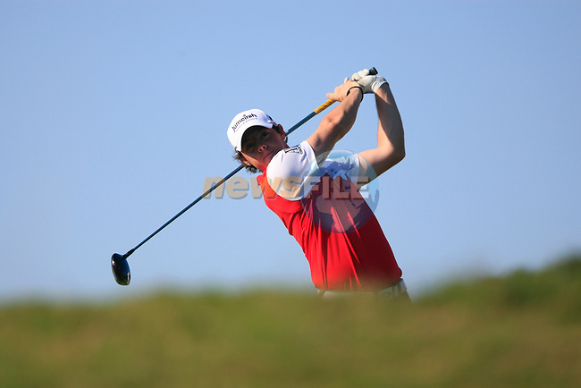 Rory McIlroyl (N.IRL) tees off on the 5th tee during the morning session on Day 3 of the Volvo World Match Play Championship in Finca Cortesin, Casares, Spain, 21st May 2011. (Photo Eoin Clarke/Golffile 2011)