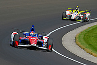 Verizon IndyCar Series<br /> Indianapolis 500 Carb Day<br /> Indianapolis Motor Speedway, Indianapolis, IN USA<br /> Friday 26 May 2017<br /> Carlos Munoz, A.J. Foyt Enterprises Chevrolet, Ed Jones, Dale Coyne Racing Honda<br /> World Copyright: F. Peirce Williams