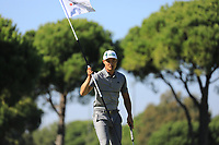 Haotong Li (CHN) during the first round of the Turkish Airlines Open played at the Montgomerie Maxx Royal Golf Club, Belek, Turkey. 07/11/2019<br /> Picture: Golffile | Phil INGLIS<br /> <br /> <br /> All photo usage must carry mandatory copyright credit (© Golffile | Phil INGLIS)