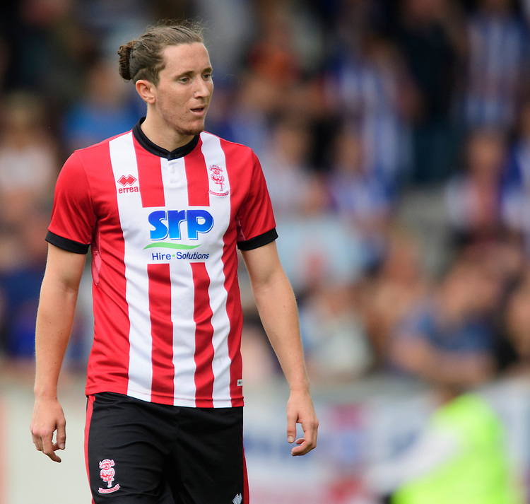 Lincoln City's trialist<br /> <br /> Photographer Chris Vaughan/CameraSport<br /> <br /> Football Pre-Season Friendly - Lincoln City v Sheffield Wednesday - Saturday July 13th 2019 - Sincil Bank - Lincoln<br /> <br /> World Copyright © 2019 CameraSport. All rights reserved. 43 Linden Ave. Countesthorpe. Leicester. England. LE8 5PG - Tel: +44 (0) 116 277 4147 - admin@camerasport.com - www.camerasport.com