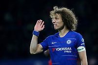 David Luiz of Chelsea shows his frustration during Chelsea vs Manchester United, Emirates FA Cup Football at Stamford Bridge on 18th February 2019