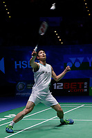 15th March 2020, Arena Birmingham, Birmingham, UK;  Chou Tien Chen competes during the mens singles final match between Viktor Axelsen of Denmark and Chou Tien Chen of Chinese Taipei at All England Badminton 2020 in Birmingham