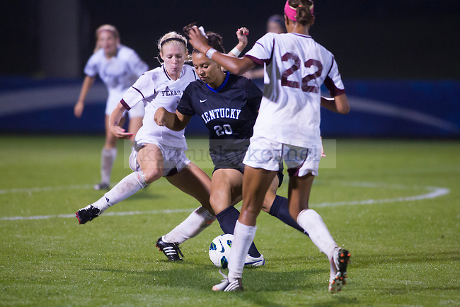 Freshman Forward Cailin Harris, during the first overtime of the University of Kentucky vs. Texas A&M Women's soccer game. Photo by: Adam Chaffins