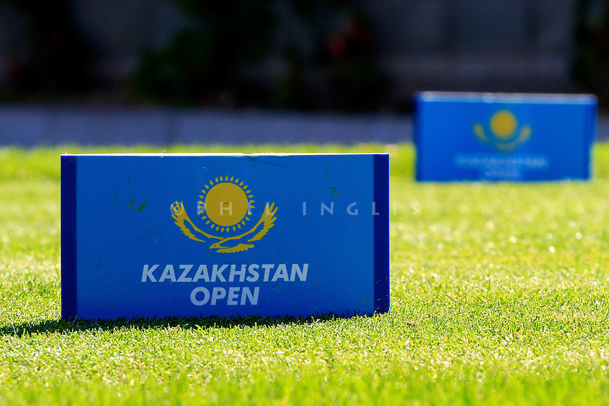 Tee markers during the final round of the Kazakhstan Open played at Zhailjau Golf Resort, Almaty on September 16, 2012 in Almaty, Kazakhstan.(Picture Credit / Phil Inglis)
