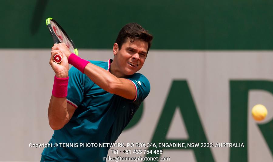 MILOS RAONIC (CAN)<br /> <br /> TENNIS - FRENCH OPEN - ROLAND GARROS - ATP - WTA - ITF - GRAND SLAM - CHAMPIONSHIPS - PARIS - FRANCE - 2017  <br /> <br /> <br /> <br /> &copy; TENNIS PHOTO NETWORK