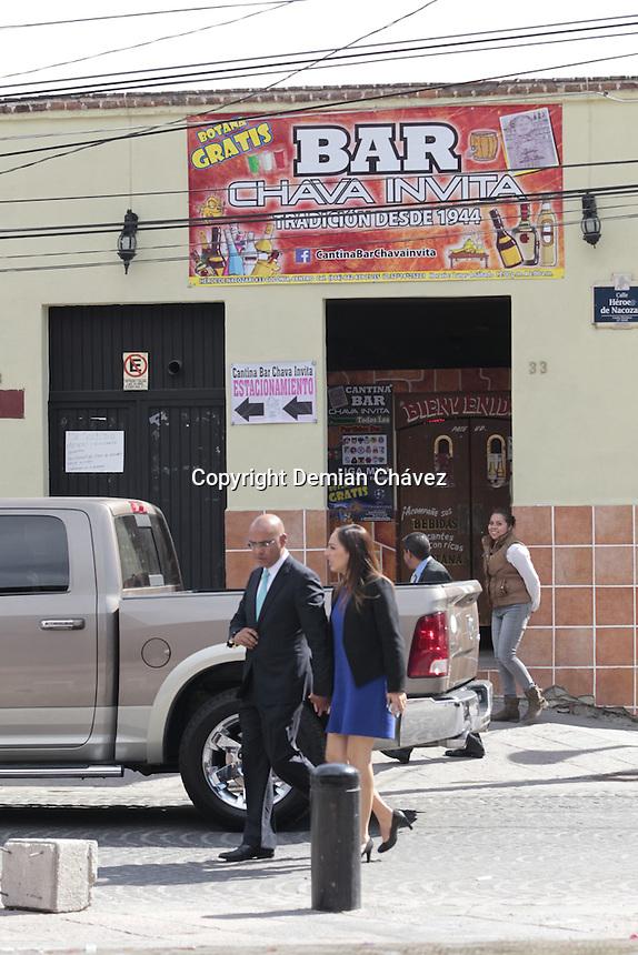 Queretaro, Qro. 19 de febrero de 2016.- El embajador de Rep&uacute;blica Dominicana, Fernando P&eacute;rez Nenen y el alcalde de capitalino Marcos Aguilar, durante la declaraci&oacute;n de &quot;Quer&eacute;taro Amigo de Rep&uacute;blica Dominicana.<br /> <br /> Dentro del proyecto internacional de &quot;Quer&eacute;taro, Amigo del Mundo&quot;.<br /> <br /> Foto: Demian Ch&aacute;vez/ Obture.