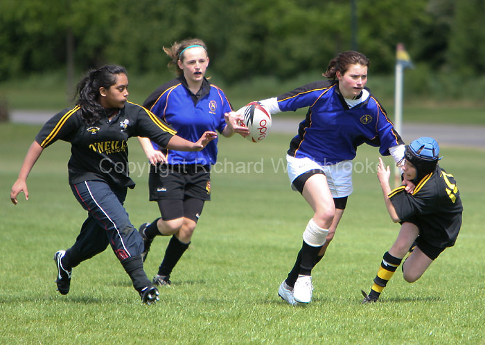 Herts Girls Sevens Rugby held at OA's Harpenden  17th May 2009
