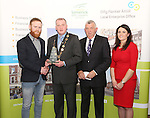 WITH COMPLIMENTS.  Attending the  Entrepreneur of the Year 2016 in the  Limerick Final of the National Enterprise Awards at a ceremony in the Dunraven Arms Hotel, Adare were Cllr. Liam Galvin, Mayor of Limerick City and County Council who presented the Best Service Business award to Eric McNulty, McNulty&rsquo;s Fuels, Hospital, Co. Limerick. Also in the photograph are Eamon Ryan, Head of Enterprise, Local Enterprise Office Limerick and Ciara Finley, Local Enterprise Office Limerick.<br /> Best Service Business - McNulty&rsquo;s Fuels is a Filling and Service Station located on the outskirts of Hospital in county Limerick. Founder, Eric McNulty, holds a Masters in Renewable Energy Planning, from the University of Dundee in Scotland. Having worked for two years in policy planning and development for the Scottish Government, Eric returned home to his native Hospital. When an opportunity arose to take over the local filling station in June 2014, he entered into a 12 month lease and opened his door for business. Since then the business has gone from strength to strength and has become an important part of the community, sponsoring local teams and events. Eric has since purchased the site and renovated the forecourt. The business prides itself on old style customer service &ndash; fully attended pumps, free home deliveries, free car checks and longer opening hours than competitors. McNulty&rsquo;s Fuels currently employ five local employees and plan to extend to three service stations across county Limerick by 2018.<br /> Photograph Liam Burke/Press 22