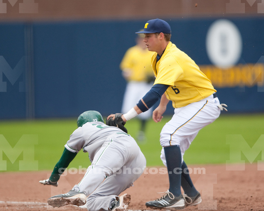 University of Michigan baseball 3-1 loss to Eastern Michigan University at Ray Fisher Stadium in Ann Arbor on April 20, 2011.