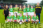 The Dr Crokesz u13 girls that represented  Kerry against Cork during the Munster final half time game in Killarney  Sunday evening
