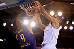 Turkish Airlines Euroleague 2017/2018.<br /> Regular Season - Round 23.<br /> FC Barcelona Lassa vs R. Madrid: 74-101.<br /> Adam Hanga vs Walter Tavares.