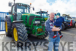 Eamon and Kayden Fealy at the Ger Lynch Memorial vintage rally in aid of the Irish Heat Foundation on Sunday at the Hopper Inn in Causeway