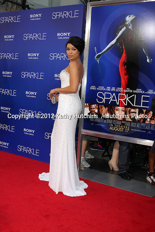 "Los Angeles - AUG 16:  Jordin Sparks arrives at the ""Sparkle""  Premiere at Graumans Chinese Theater on August 16, 2012 in Los Angeles, CA"