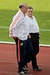 MADRID (24/05/09).- The Spanish Soccer national team has officially begun their hunt for the championship, arriving in the Madrid municipality of Las Rozas to begin preparing for South Africa World Cup.  Vicente del Bosque, coach...PHOTO: Cesar Cebolla / ALFAQUI