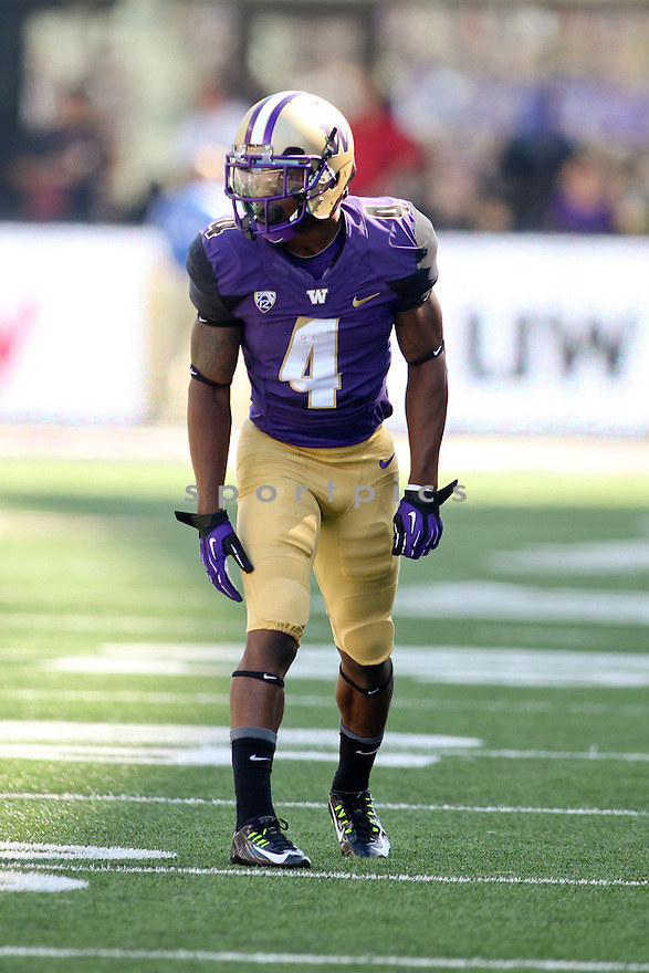 Washington Huskies Jaydon Mickens (4) during a game against the Eastern Washington Eagles on September 6, 2014 at Husky Stadium in Seattle, WA. Washington beat East Washington 59-52.