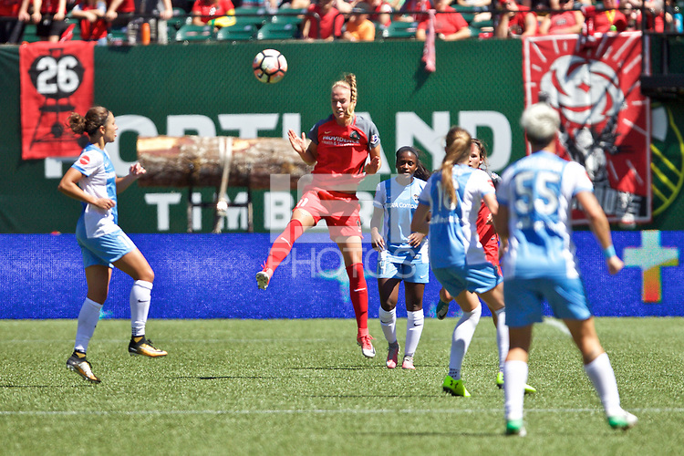 Portland, OR - Saturday August 05, 2017: Dagný Brynjarsdóttir during a regular season National Women's Soccer League (NWSL) match between the Portland Thorns FC and the Houston Dash at Providence Park.
