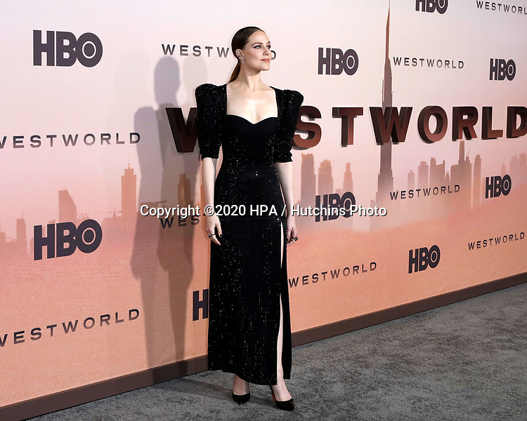 "LOS ANGELES - MAR 5:  Evan Rachel Wood at the ""Westworld"" Season 3 Premiere at the TCL Chinese Theater IMAX on March 5, 2020 in Los Angeles, CA"