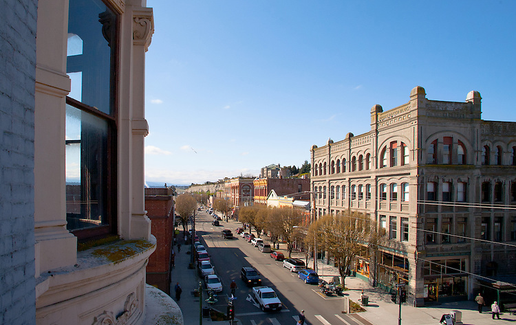 Port Townsend, Hastings Building, Water Street, Victorian architecture, Jefferson County, Olympic Peninsula, Washington State, Port Townsend Historic District, shopping,