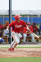Philadelphia Phillies Nerluis Martinez (11) during an instructional league game against the Toronto Blue Jays on September 28, 2015 at Englebert Complex in Dunedin, Florida.  (Mike Janes/Four Seam Images)