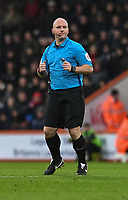 Referee Simon Hopper<br /> <br /> Photographer David Horton/CameraSport<br /> <br /> The Premier League - Bournemouth v West Ham United - Saturday 19 January 2019 - Vitality Stadium - Bournemouth<br /> <br /> World Copyright © 2019 CameraSport. All rights reserved. 43 Linden Ave. Countesthorpe. Leicester. England. LE8 5PG - Tel: +44 (0) 116 277 4147 - admin@camerasport.com - www.camerasport.com
