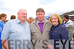 Tom Cahill, Johnny O'Sullivan and Kathleen McCoy (Abbeyfeale) pictured at Glenbeigh races on Sunday last.
