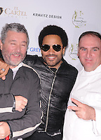 MIAMI, FL - NOVEMBER 08:Philippe Starck, Lenny Kravitz and Jose Andres arrives at Grand Opening of SLS Hotel South Beach at SLS South Beach on November 8, 2012 in Miami, Florida. © MPI10/MediaPunch Inc /NortePhoto