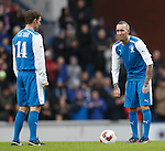 Fernando Ricksen gets all emotional as he kicks off the match