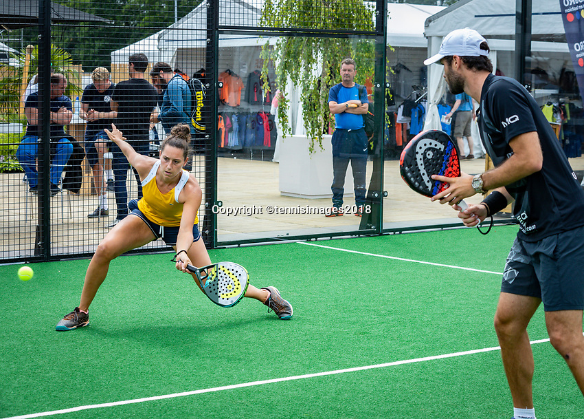 Den Bosch, Netherlands, 16 June, 2018, Tennis, Libema Open, Padel Final Mixed<br /> Photo: Henk Koster/tennisimages.com