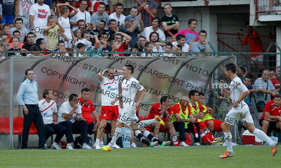 Fudbal Super liga season 2013-2014<br /> Javor v Crvena Zvezda <br /> Predrag Djordjevic celebrates the goal<br /> Beograd, 11.08.2013.<br /> foto: Srdjan Stevanovic/Starsportphoto &copy;