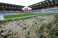 A general view of a very wet Turf Moor, home of Burnley, ahead of kick-off<br /> <br /> Photographer Rich Linley/CameraSport<br /> <br /> The Premier League - Burnley v Leicester City - Saturday 16th March 2019 - Turf Moor - Burnley<br /> <br /> World Copyright © 2019 CameraSport. All rights reserved. 43 Linden Ave. Countesthorpe. Leicester. England. LE8 5PG - Tel: +44 (0) 116 277 4147 - admin@camerasport.com - www.camerasport.com