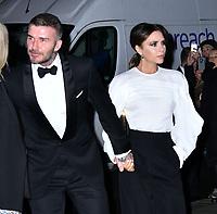 David Beckham, Victoria Beckham<br /> at National Portrait Gallery Gala 2019, London, England on 12 March 2019.<br /> CAP/JOR<br /> &copy;JOR/Capital Pictures