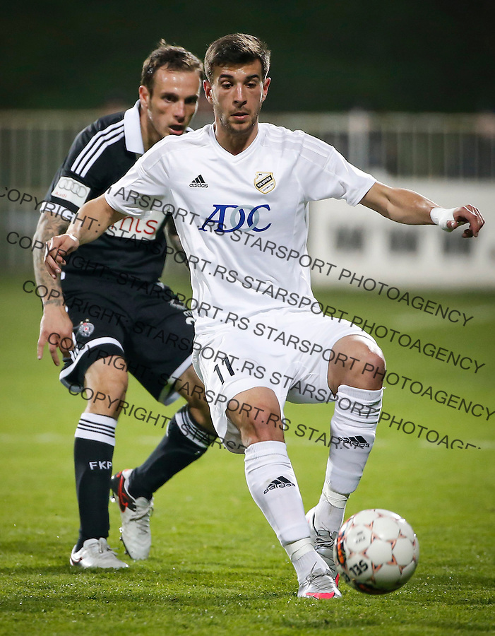 Fudbal Jelen Super League season 2015-2016<br /> Cukaricki v Partizan<br /> Andrija Pavlovic (R) and  Marko Jovanovic<br /> Beograd, 20.03.2016.<br /> foto: Srdjan Stevanovic/Starsportphoto&copy;