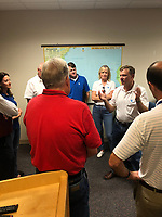 Eric Silagy briefing with leaders in Indian River County to prepare for 2019 Hurricane Dorian in Indian River County, Fla. on August 31, 2019.