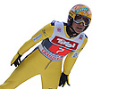 Noriaki Kasai competes during the FIS Ski Jumping World Cup as part of the 4 Hills Tournament in Innsbruck, on January 4, 2015.