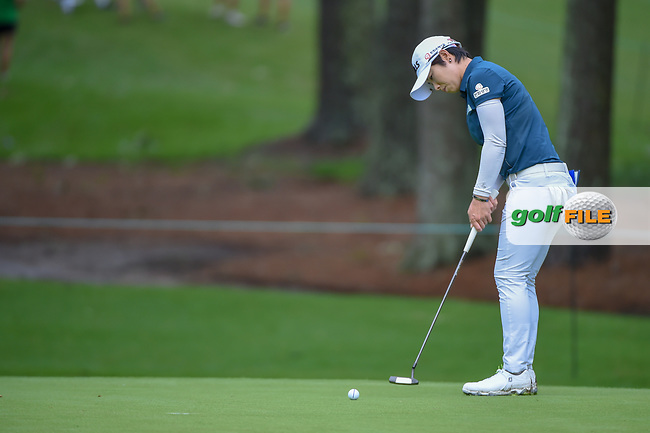 Eun-Hee Ji (KOR) watches her putt on 10 during round 1 of the U.S. Women's Open Championship, Shoal Creek Country Club, at Birmingham, Alabama, USA. 5/31/2018.<br /> Picture: Golffile | Ken Murray<br /> <br /> All photo usage must carry mandatory copyright credit (© Golffile | Ken Murray)