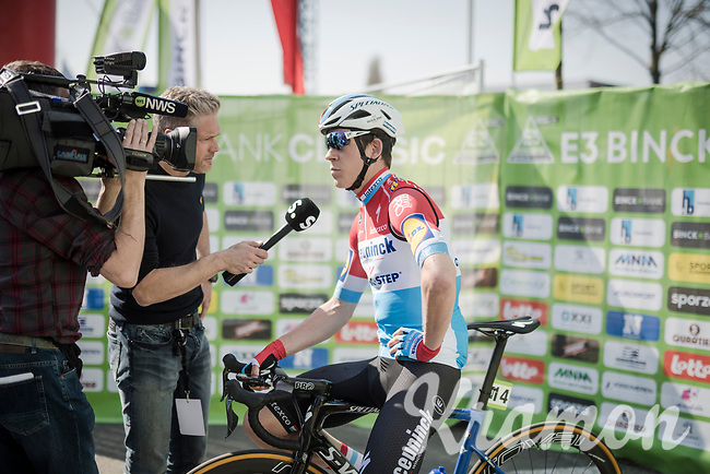 pre-race interview for Bob JUNGELS (LUX/Deceuninck-Quick Step)<br /> <br /> 62nd E3 BinckBank Classic (Harelbeke) 2019 <br /> One day race (1.UWT) from Harelbeke to Harelbeke (204km)<br /> <br /> ©kramon
