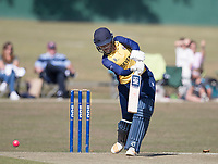 Kelly Castle of Essex drives through the off side during Upminster CC vs Essex CCC, Benefit Match Cricket at Upminster Park on 8th September 2019