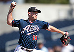 Reno Aces Jensen Lewis pitches against the Tuscon Padres during a minor league baseball game in Reno, Nev. on Monday, Sept. 3, 2012. The Aces won 2-1..Photo by Cathleen Allison