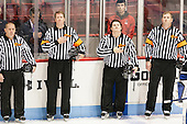 Wayne Silva, Tom Fyrer, Steven Capraro, Tim Low - The visiting Bentley University Falcons defeated the Northeastern University Huskies 3-2 on Friday, October 16, 2015, at Matthews Arena in Boston, Massachusetts.