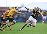 Cormac O Donovan of Clonlara in action against Niall Deasy of Ballyea  during their senior county final replay at Cusack Park. Photograph by John Kelly.