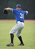 July 14th, 2007:  Sean Tracey of the Aberdeen Ironbirds, Class-A Short-Season affiliate of the Baltimore Orioles, throws in the outfield before a game vs the Jamestown Jammers in New York-Penn League action while on rehab assignment from the Norfolk Tides.  Photo Copyright Mike Janes Photography 2007.