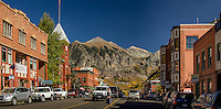 The mountain resort town of Telluride Colorado in the fall.