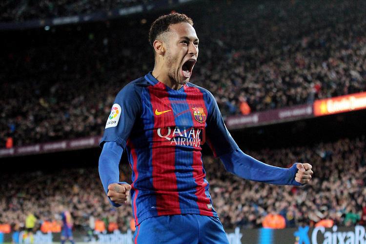 Copa del Rey 2016/2017 - 1/8 final vuelta.<br /> FC Barcelona vs Athletic Club: 3-1.<br /> Neymar Jr.