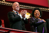 Kennedy Center Honorees Billy Joel, left, and Martina Arroyo, right, attend the 2013 Kennedy Center Honors on December 8, 2013 in Washington, DC. The honorees this year include: opera singer Martina Arroyo, jazz musician Herbie Hancock, musician Billy Joel, actress Shirley MacLaine and musician Carlos Santana. <br /> Credit: Kristoffer Tripplaar  / Pool via CNP